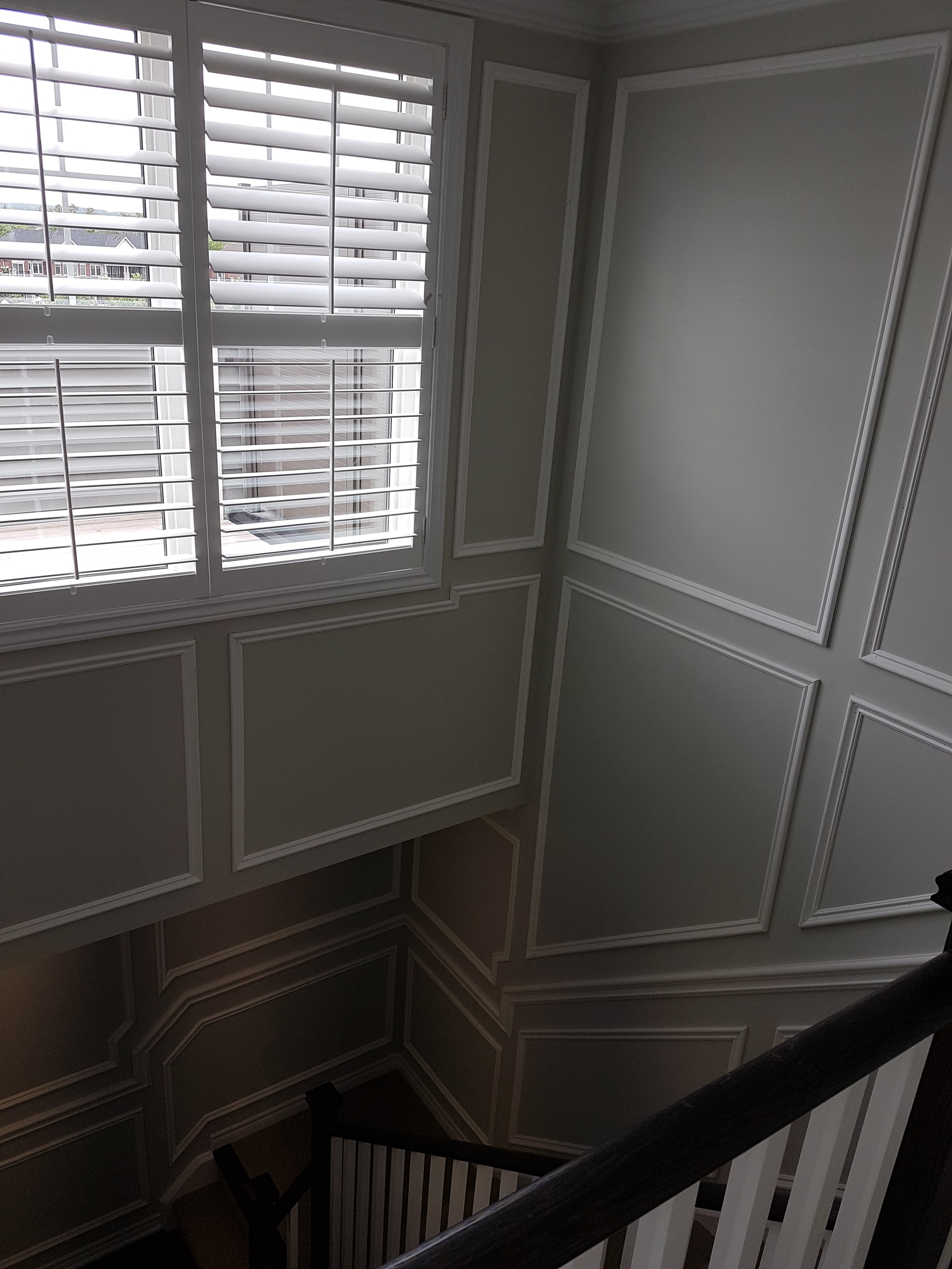 Wainscoting - Near Window and Wall - World Cl Moulding on stucco windows, crown molding windows, bar windows, accessories windows, siding windows, fireplace windows,